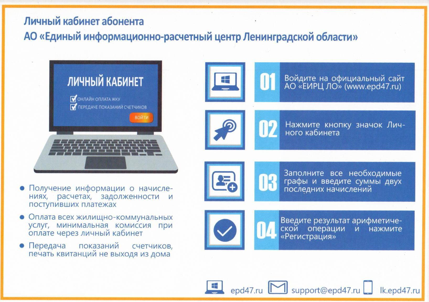Еирц московской области официальный сайт личный кабинет