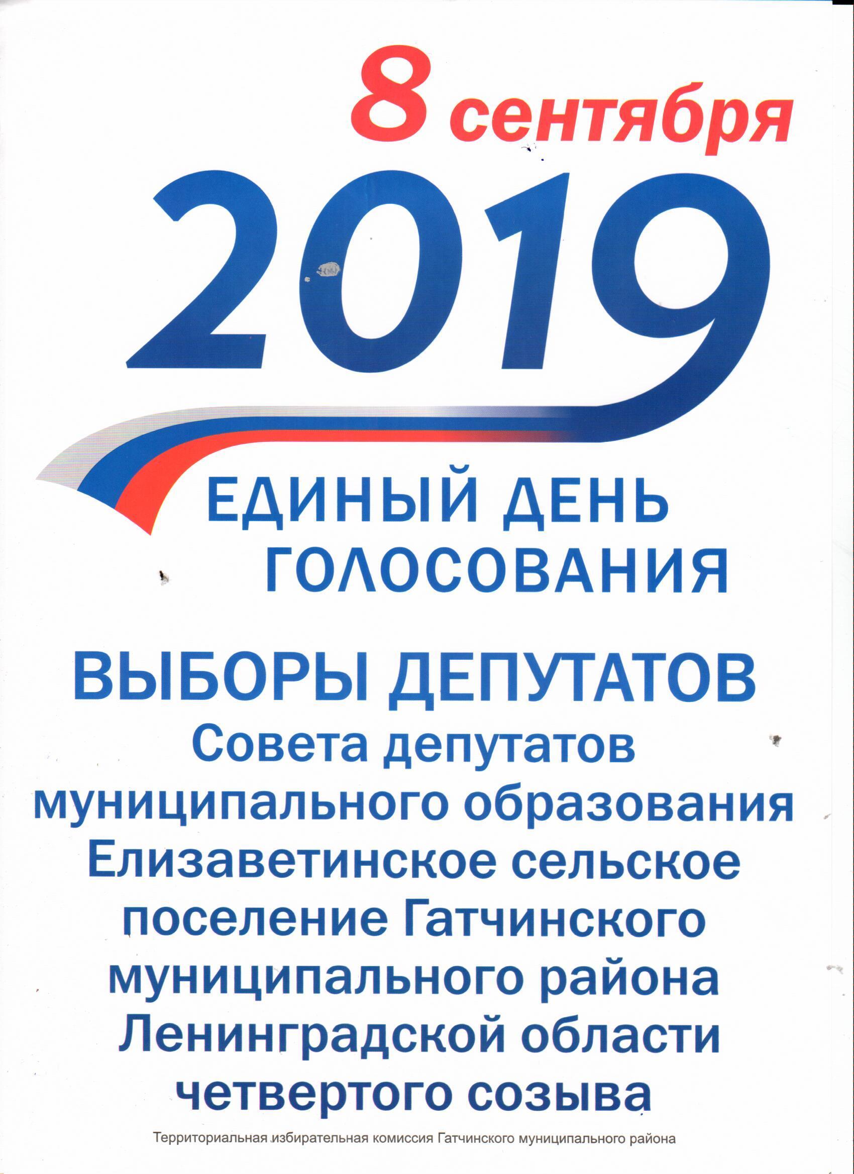 Выборы 08.09.2019 г.